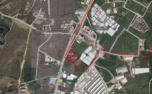 Yalova / Bursa Karayolu Cepheli Akaryakıt + LPG İmarlı Arsa