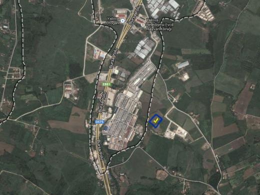 Yalova'da satılık sanayi imarlı arsa